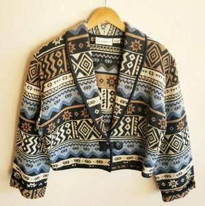 VTG Flashback | Brocade Tapestry Cropped Jacket